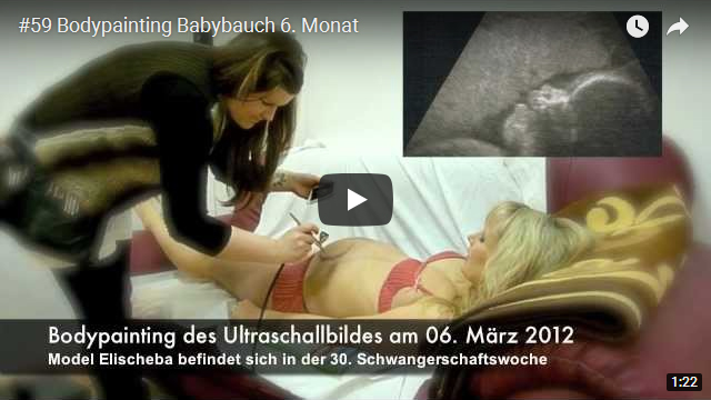 ElischebaTV_059_640x360 Bodypainting Babybauch sechster Monat